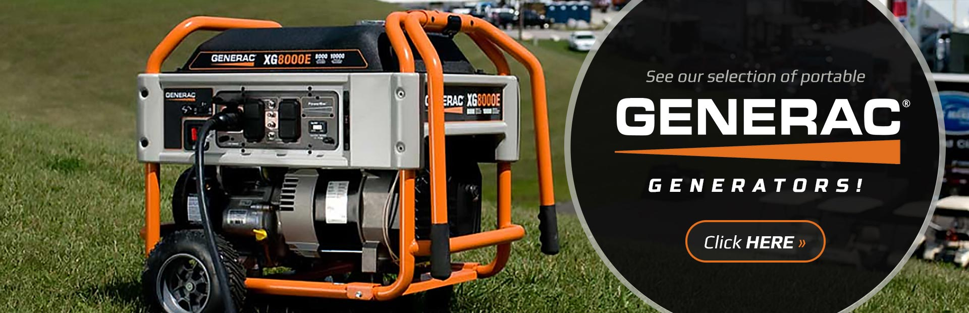 Generac Portable Generators: Click here to view the models.
