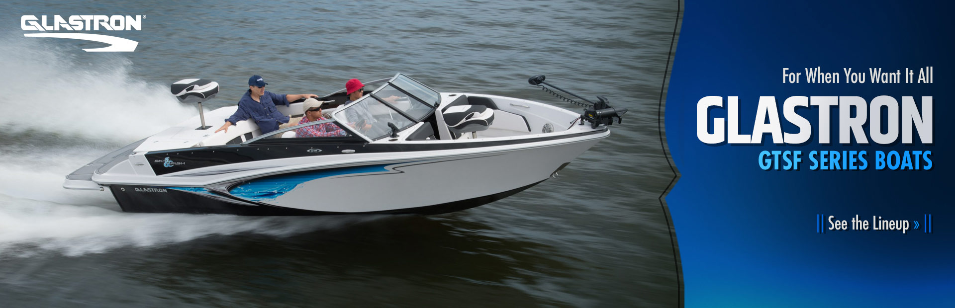 Click here to see our lineup of Glastron GTSF series boats!