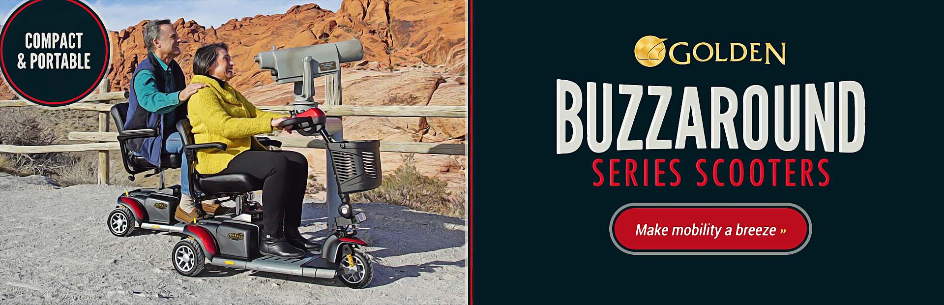 Golden Technologies Buzzaround Series Scooters: Click here for details.