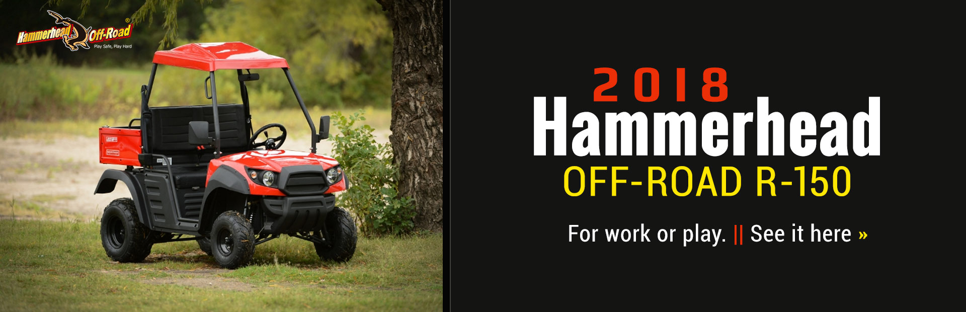 2018 Hammerhead Off-Road R-150: Click here to view the model.