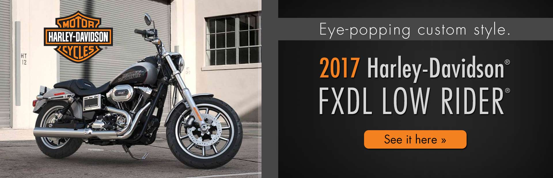 2017 Harley-Davidson® FXDL Low Rider®: Click here to view the model.
