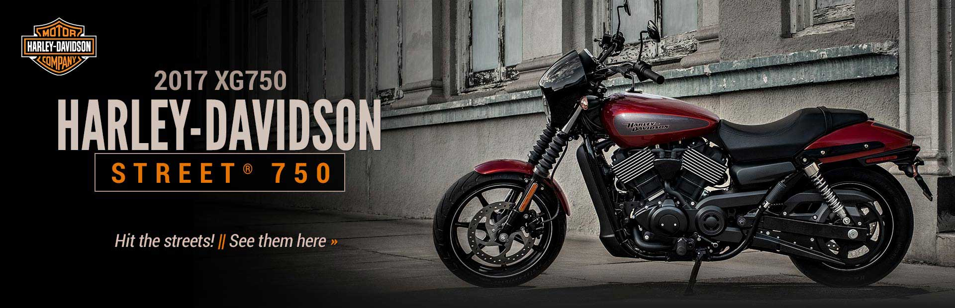 2017 XG750 Harley-Davidson Street® 750: Click here to view the model.