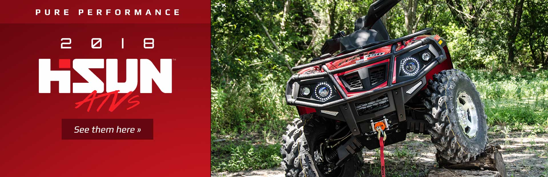 2018 Hisun ATVs: Click here to view the models.