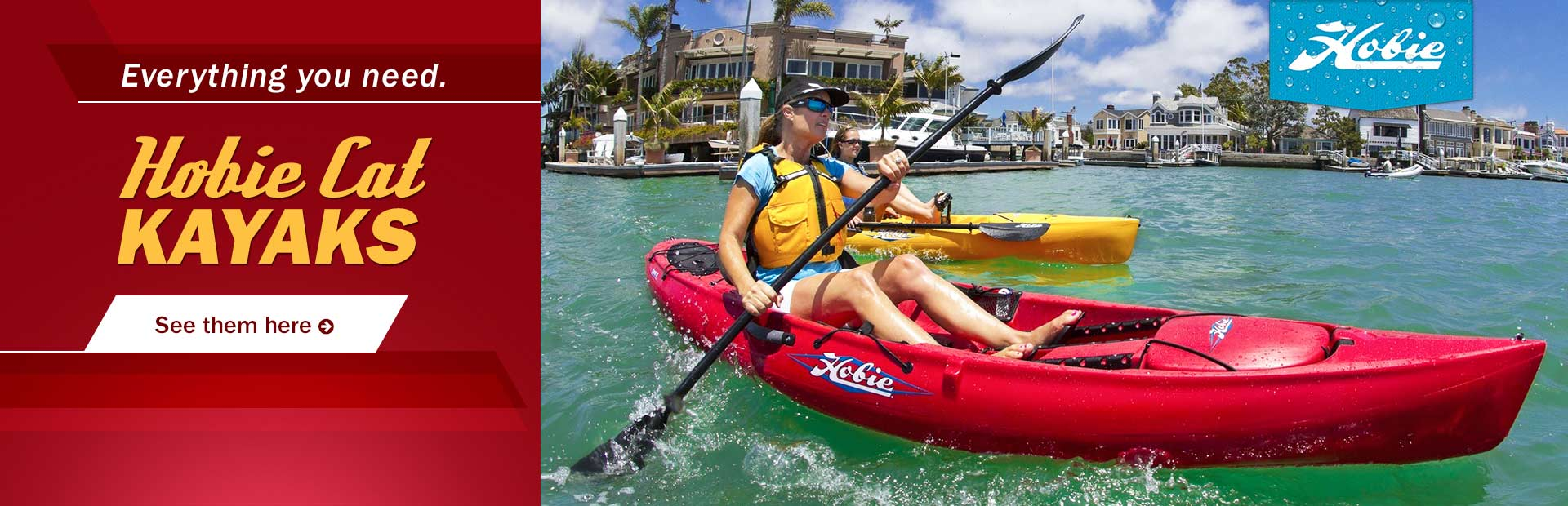 Hobie Cat Kayaks: Click here to view the lineup.