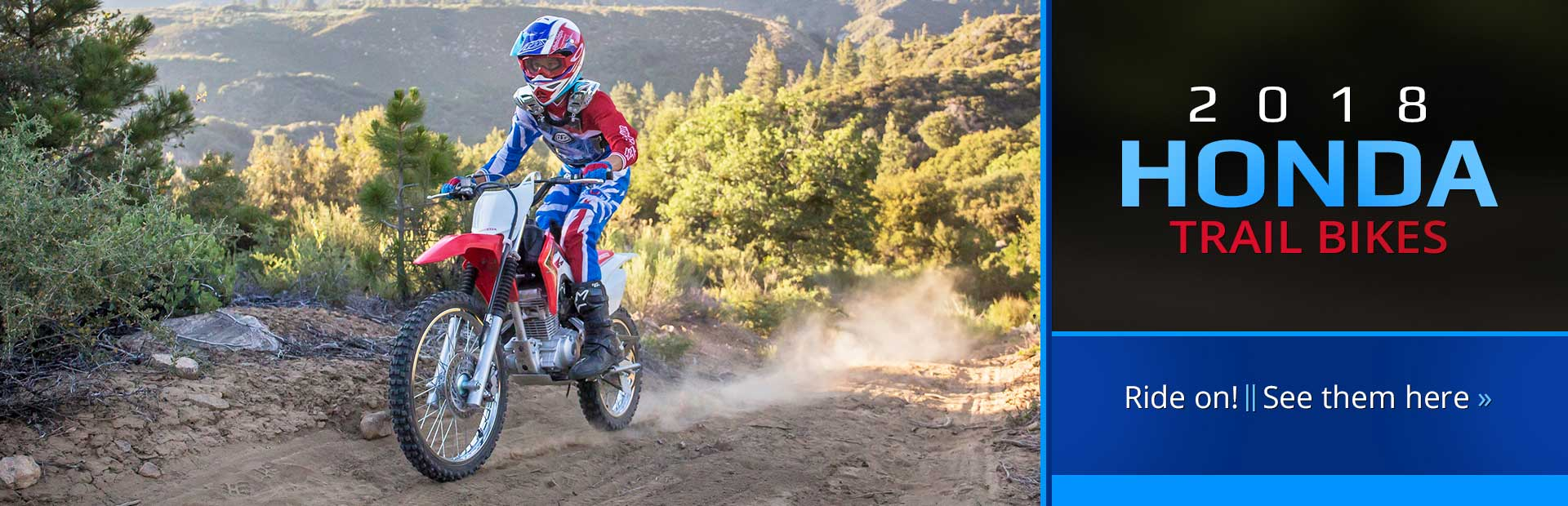 2018 Honda Trail Bikes: Click here to view our selection!