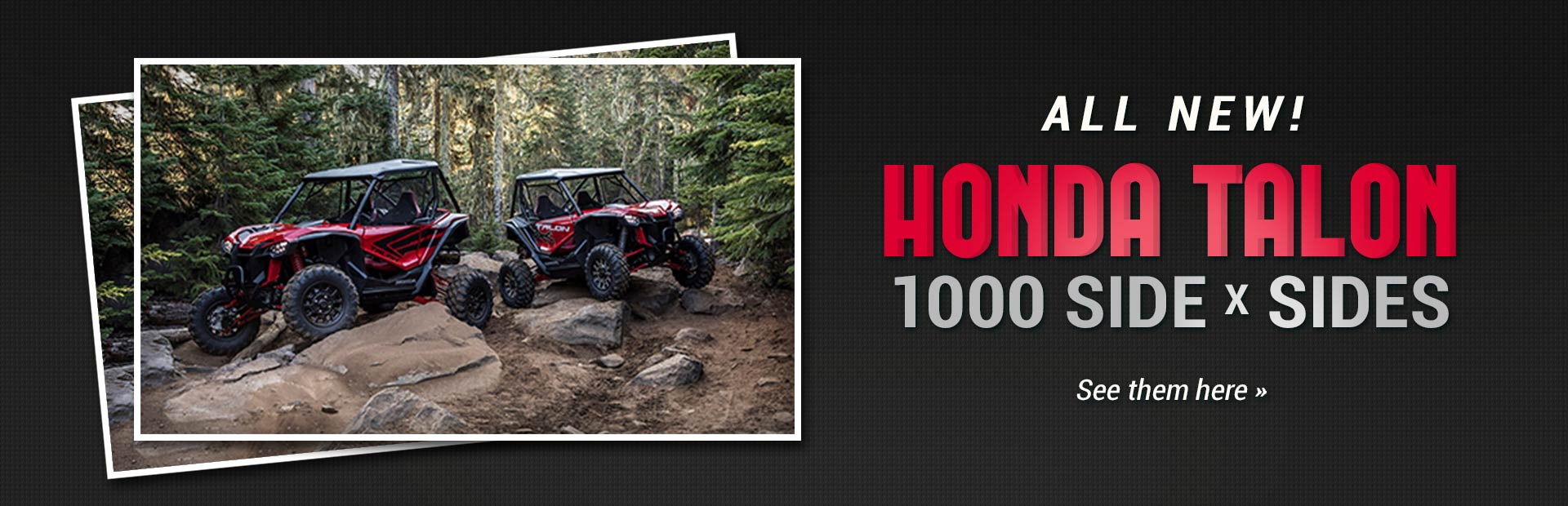 Honda Talon 1000 Side x Sides: Click here to view the models.