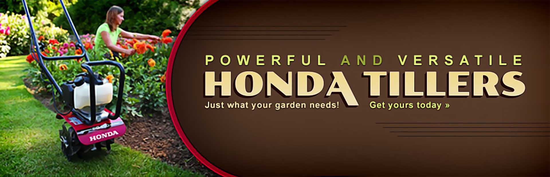 Click here to view Honda tillers.