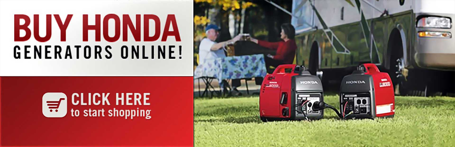 Buy Honda generators online! Click here to start shopping.