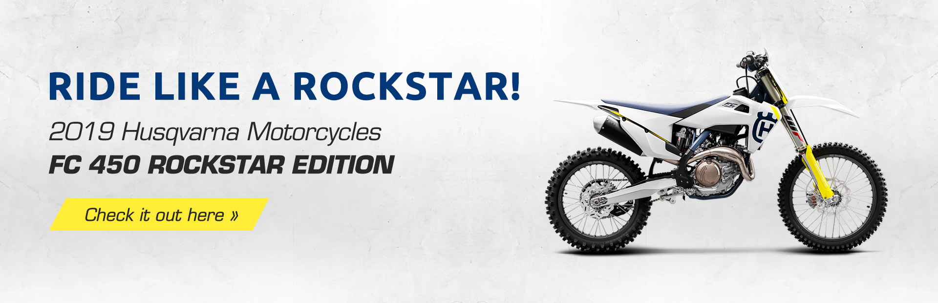 2019 Husqvarna Motorcycles FC 450 ROCKSTAR EDITION: Rock like a rockstar! Click here to view the mod