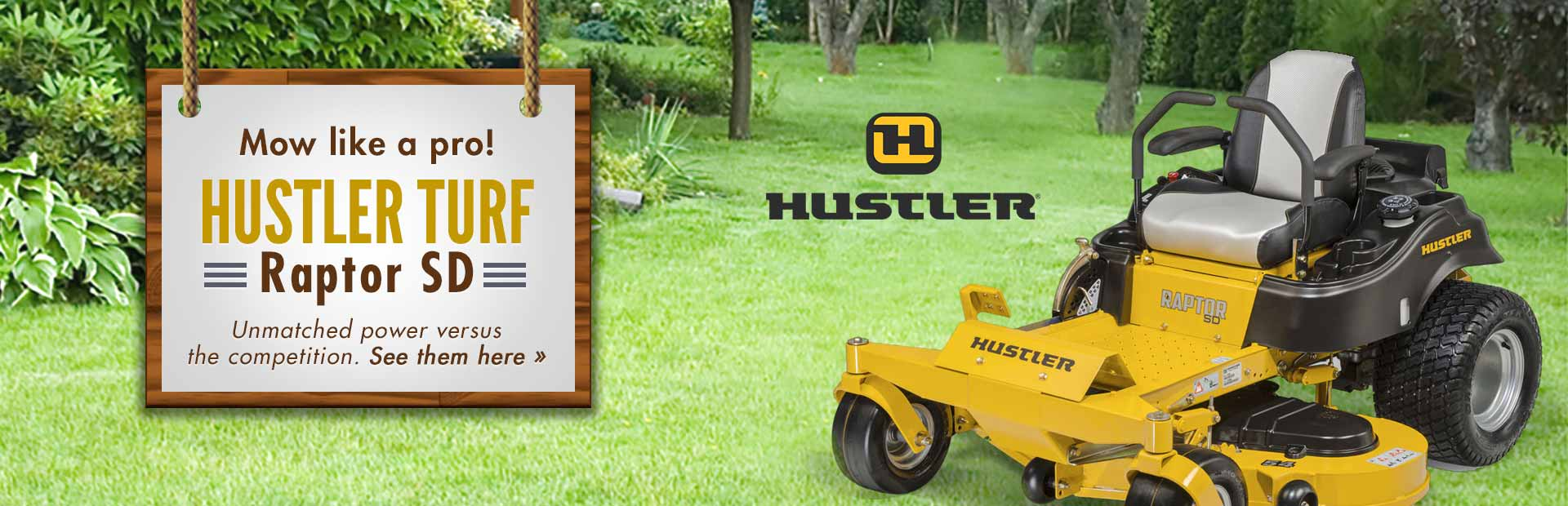 Hustler Turf Raptor SD: Click here for HUGE savings