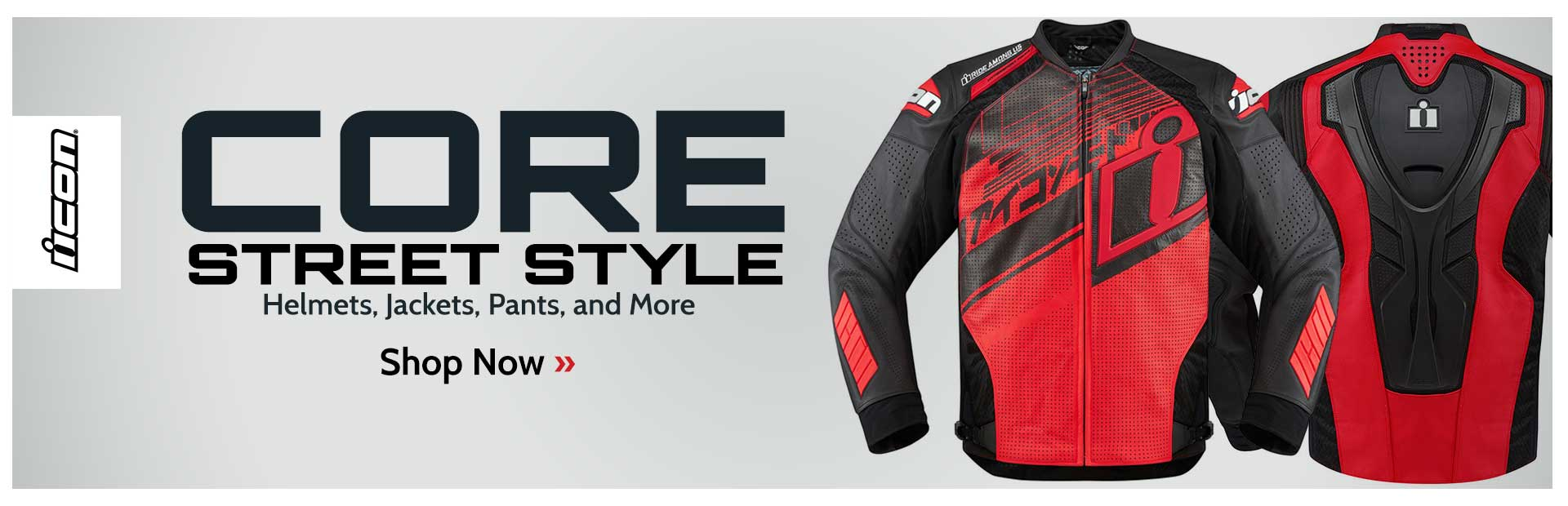 Click here to view helmets, jackets, pants, and more from Icon.