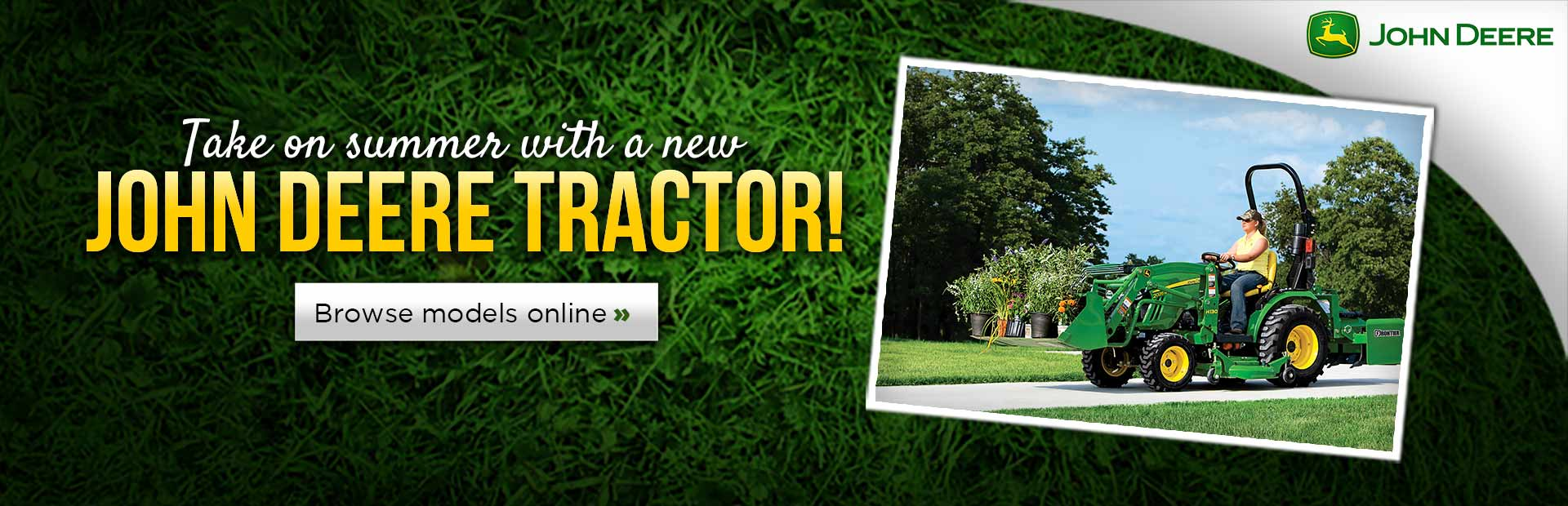 Click here to browse John Deere tractors.