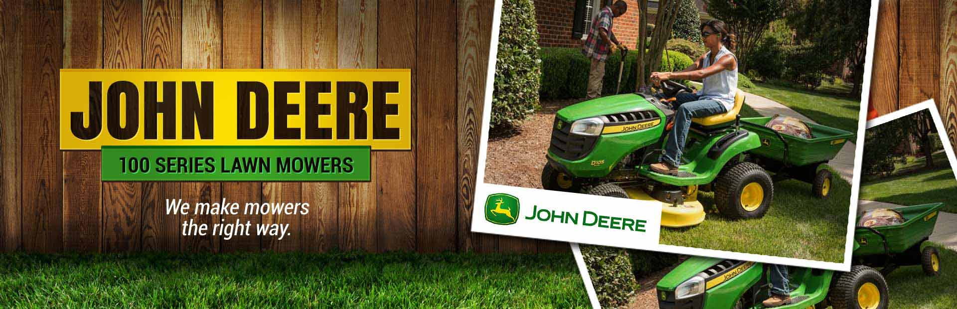 John Deere 100 Series Lawn Mowers: Click here to view our selection!