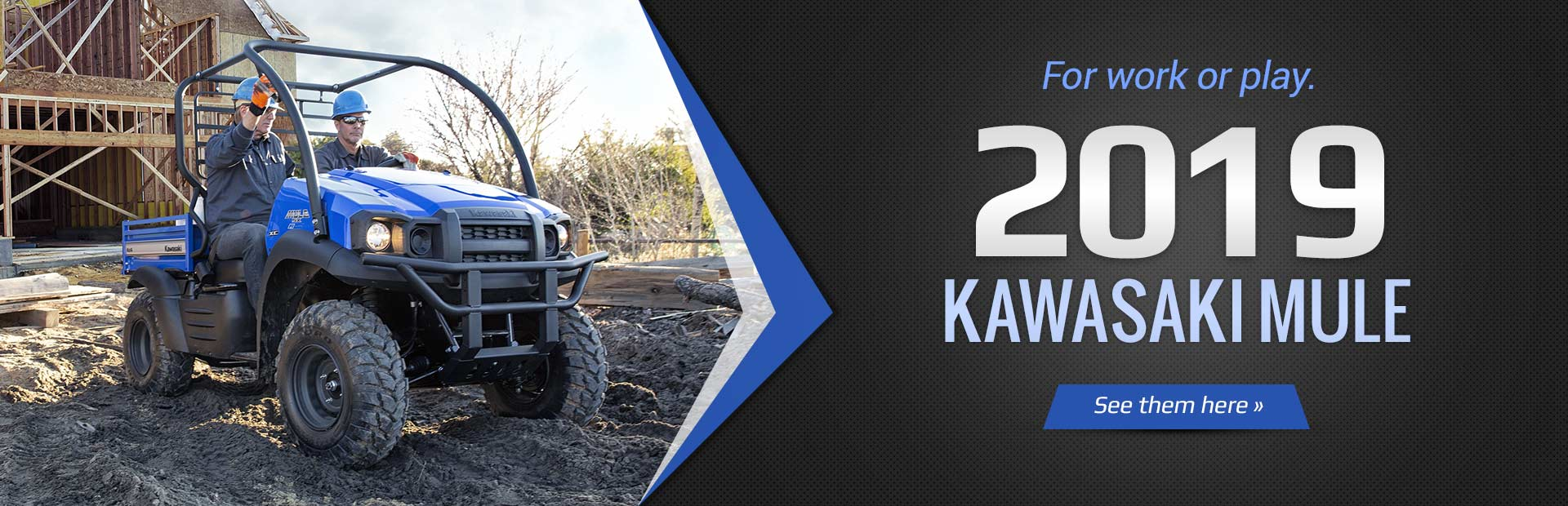 2019 Kawasaki Mule: Click here to view the models.