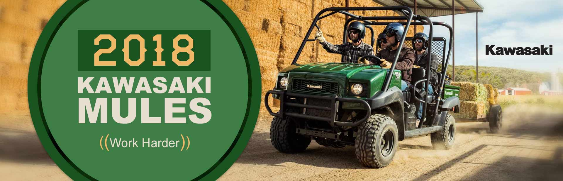 2018 Kawasaki Mules: Click here to view the models.