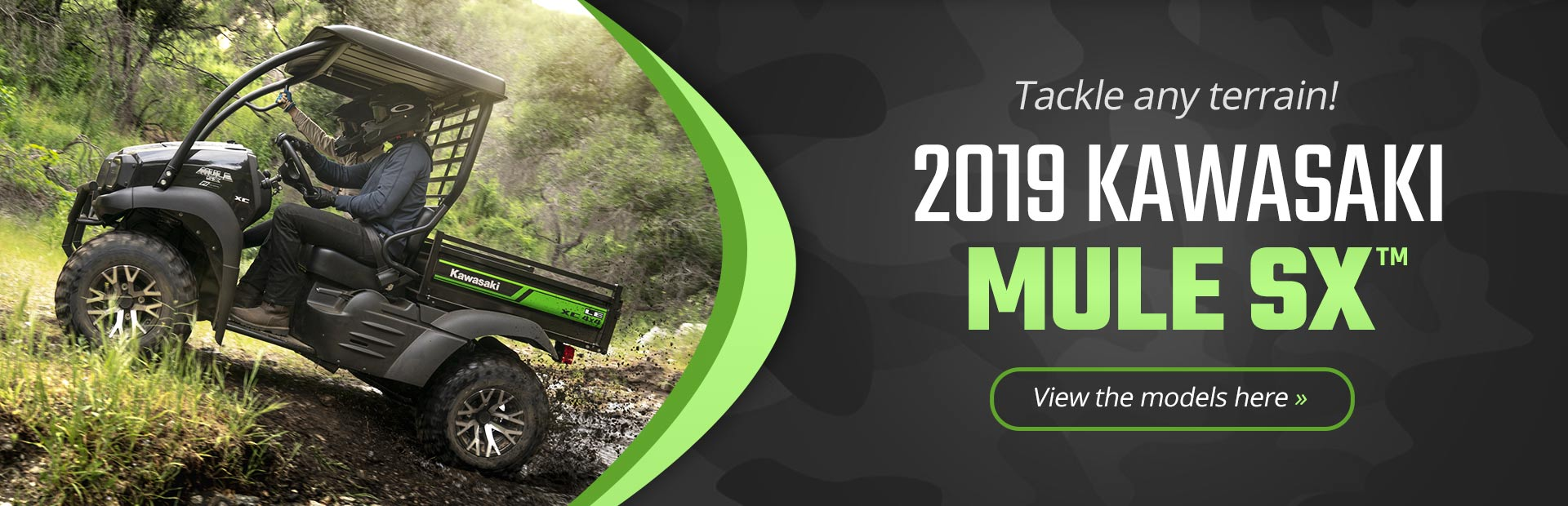 2019 Kawasaki MULE SX™: Click here to view the models.