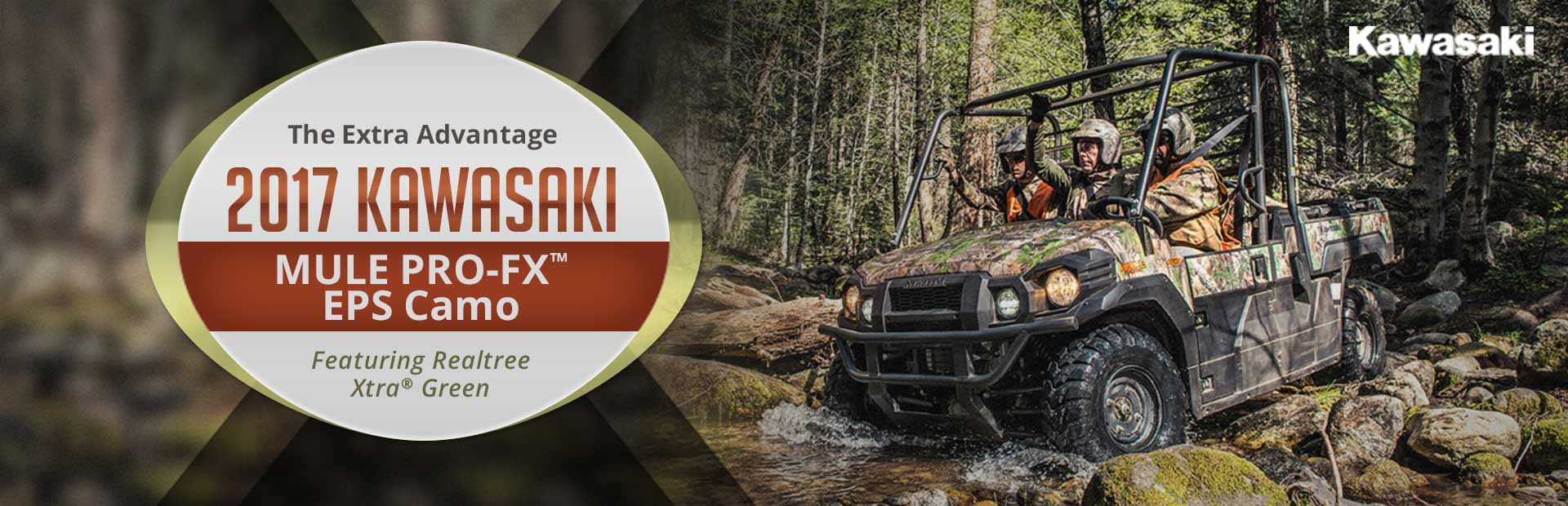 2017 Kawasaki MULE PRO-FX™ EPS Camo Featuring Realtree Xtra® Green: Click for details.