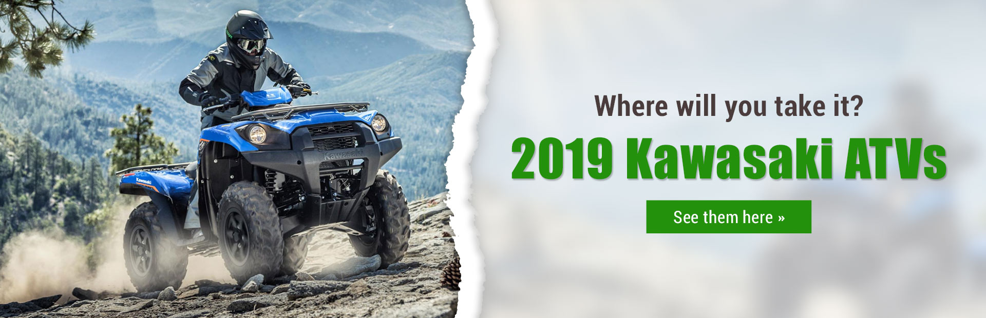 2019 Kawasaki ATVs: Click here to view the models.