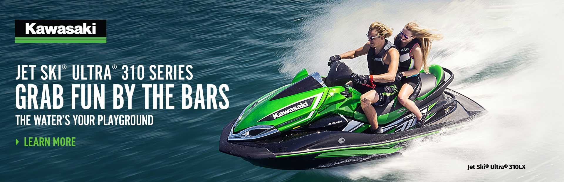 "2018 JET SKI® ULTRA® 310 SERIES ""GRAB FUN BY THE BARS"""