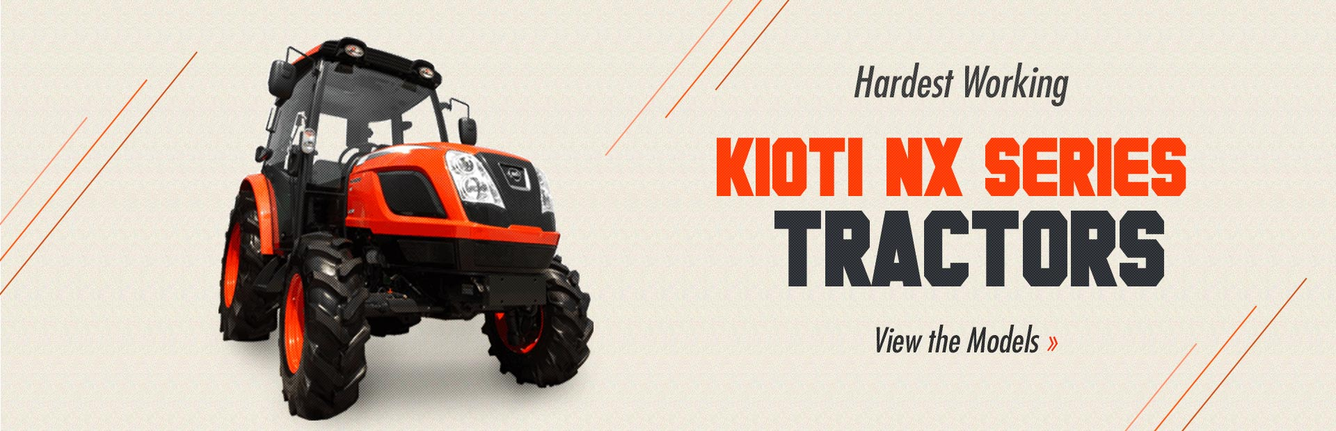 KIOTI NX Series Tractors: Click here to see the models.