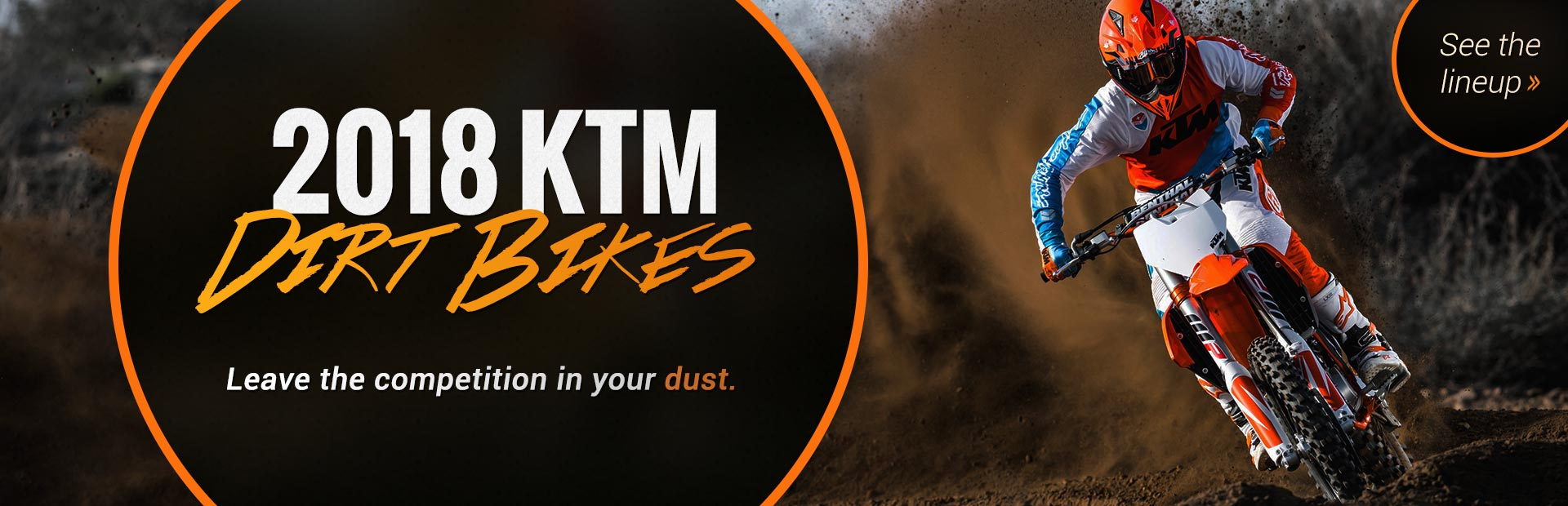 2018 KTM Dirt Bikes: Click here to view the models.