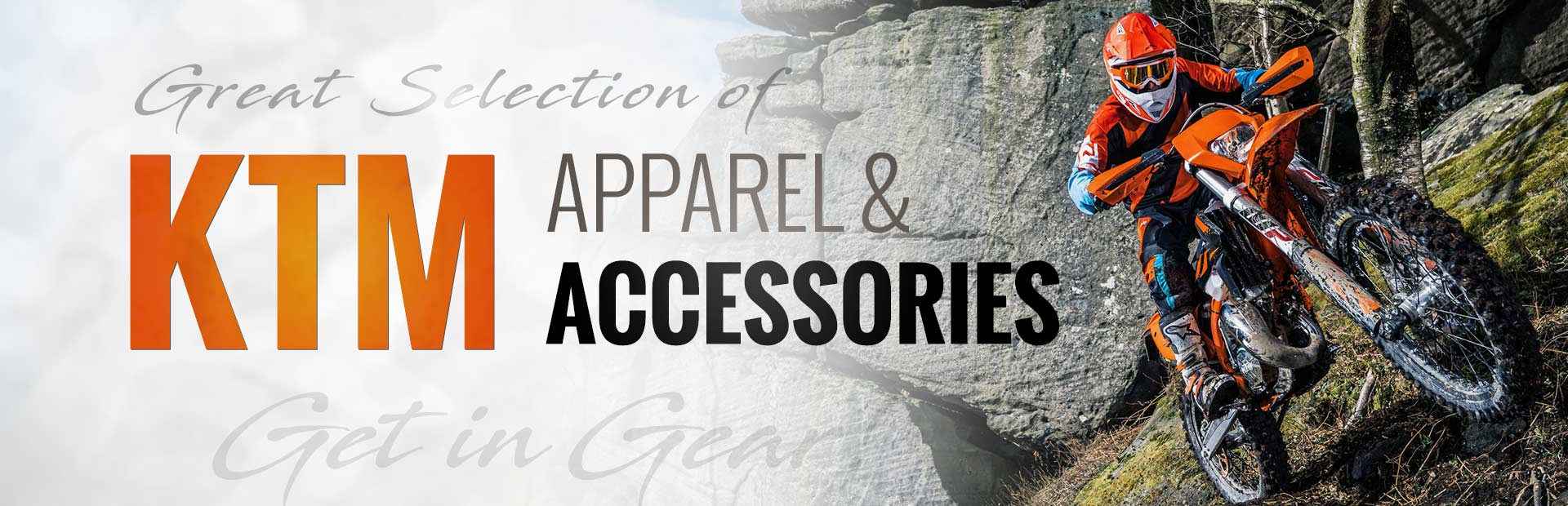 We have a great selection of KTM apparel and accessories!