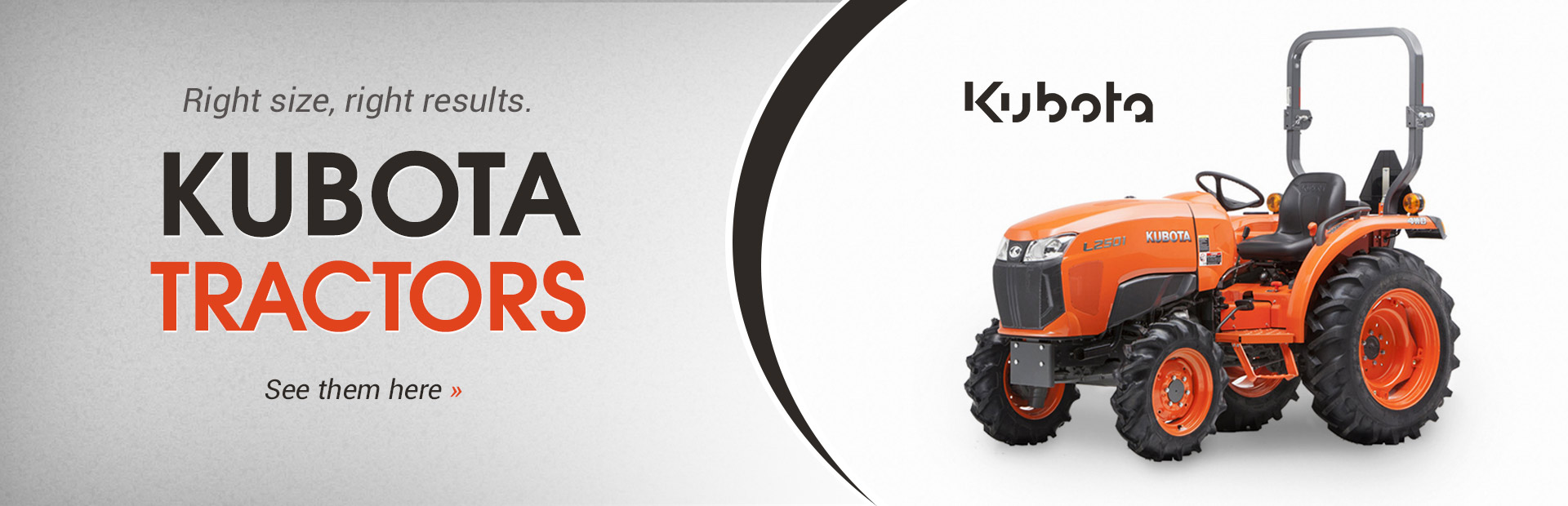 Kubota Tractors: Click here to view our inventory.