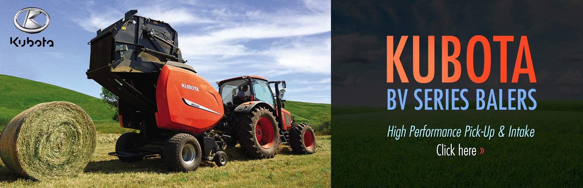 Click here to view our selection of Kubota BV series balers!