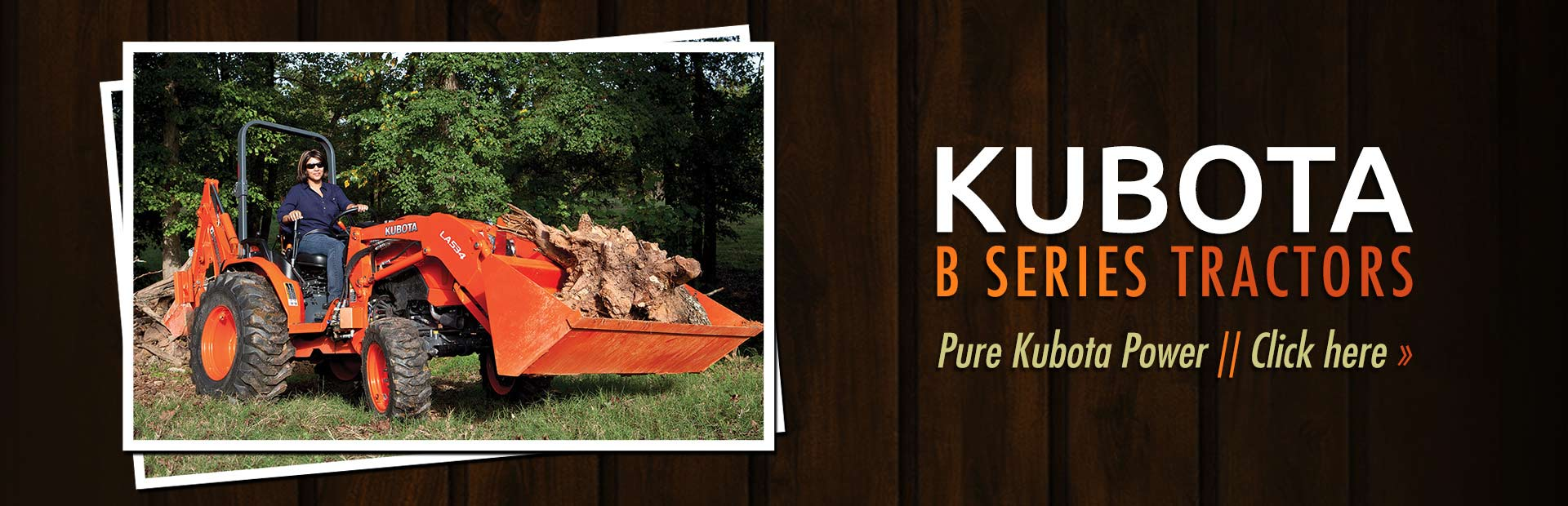 Click here to view our selection of Kubota B series tractors!
