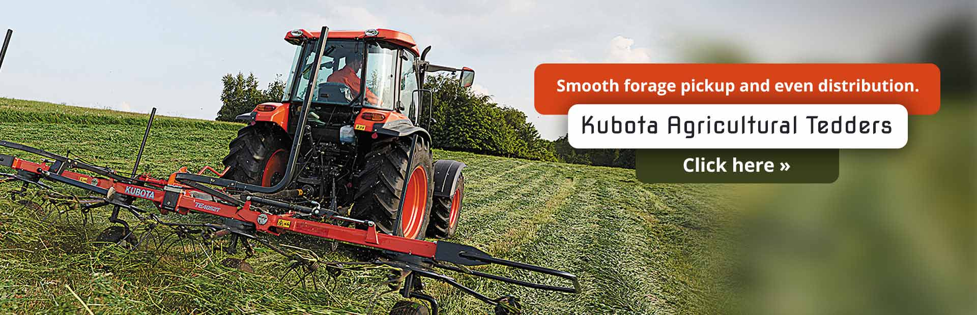 Click here to view our selection of Kubota agricultural tedders!