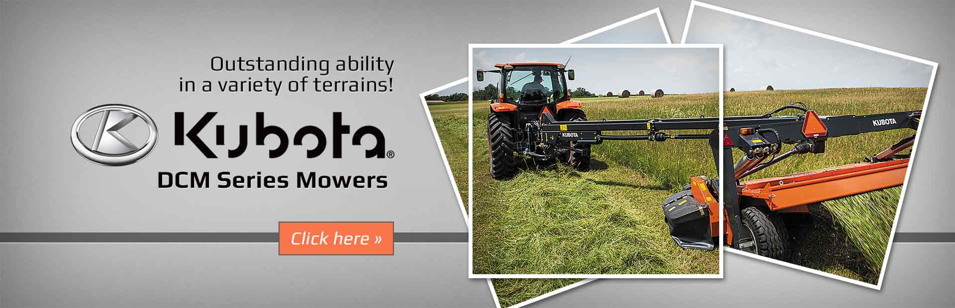 Click here to view our selection of Kubota DCM series mowers!