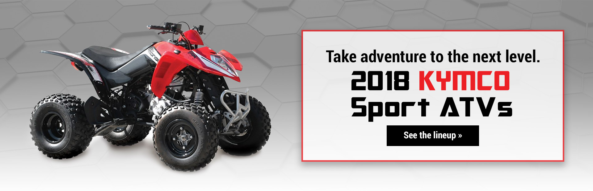 2018 KYMCO Sport ATVs: Click here to view the lineup.