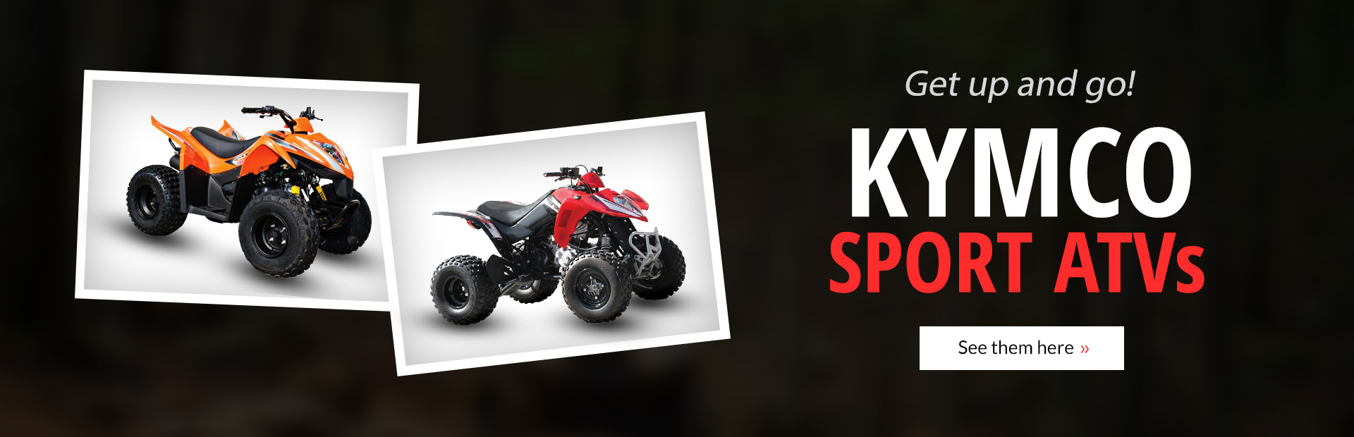 Kymco Sport ATVs: Click here to view the models.