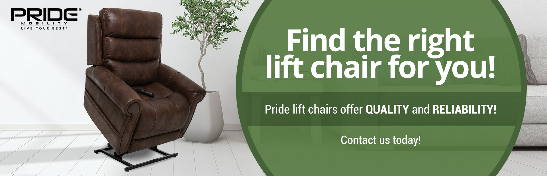 Pride lift chairs offer quality and reliability! Click here to browse our selection.