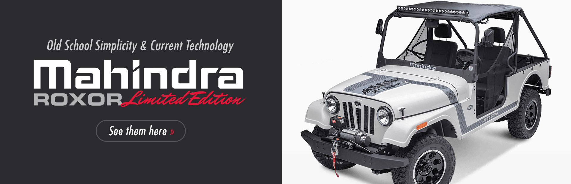 Mahindra ROXOR Limited Edition: Click here to view the models.