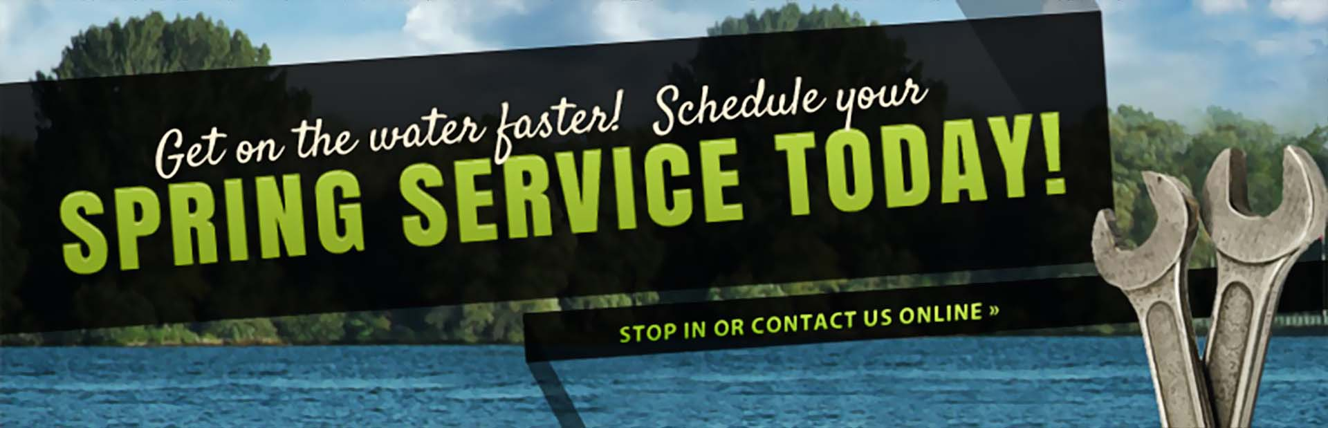 Click here to schedule your service and get on the water faster!