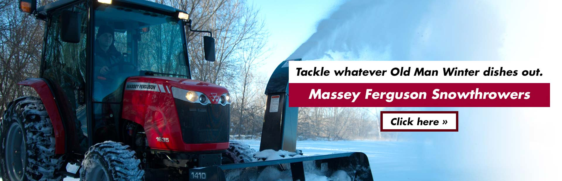 Tackle whatever Old Man Winter dishes out with Massey Ferguson snowthrowers! Click here to view our