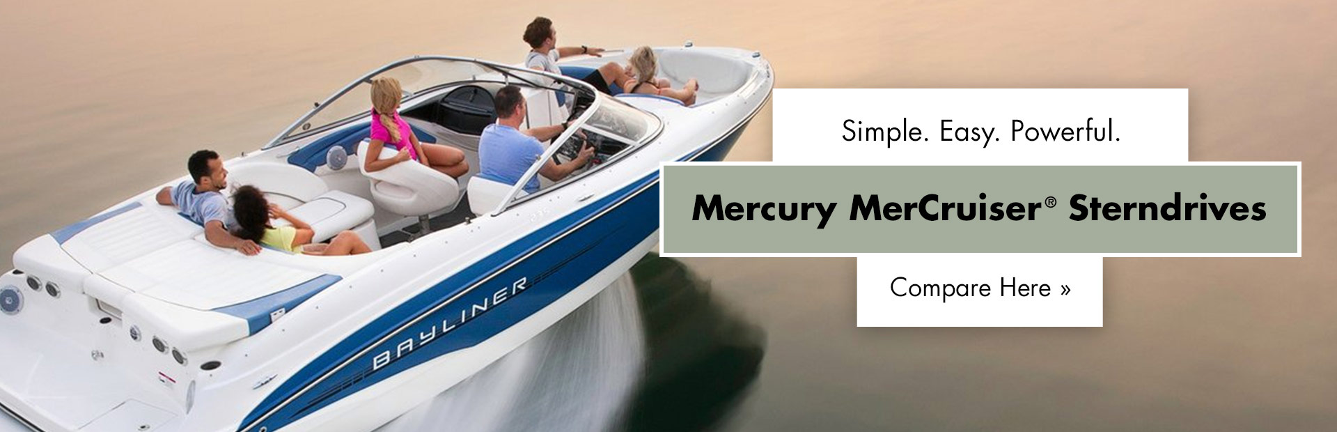 Mercury MerCruiser® Sterndrives: Click here to view the models.
