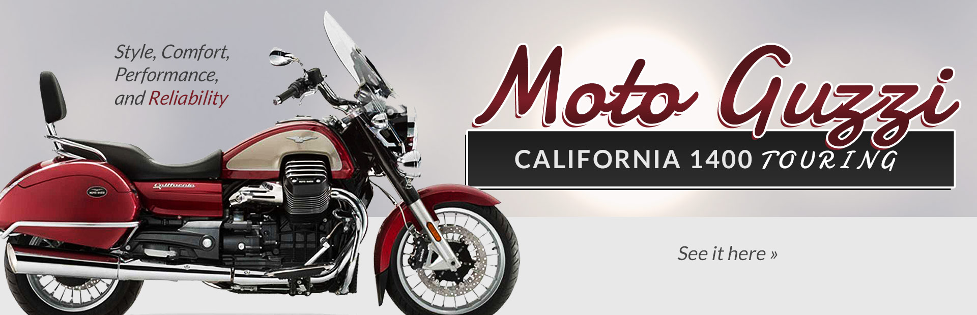 Moto Guzzi California 1400 Touring: Click here to view the model.
