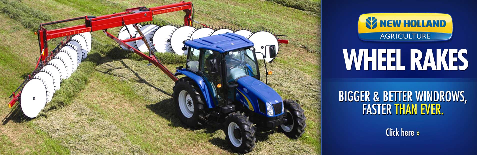 Click here to view our selection of New Holland wheel rakes!