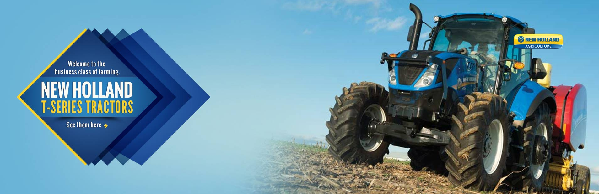 Click here to view our selection of New Holland T-series tractors!