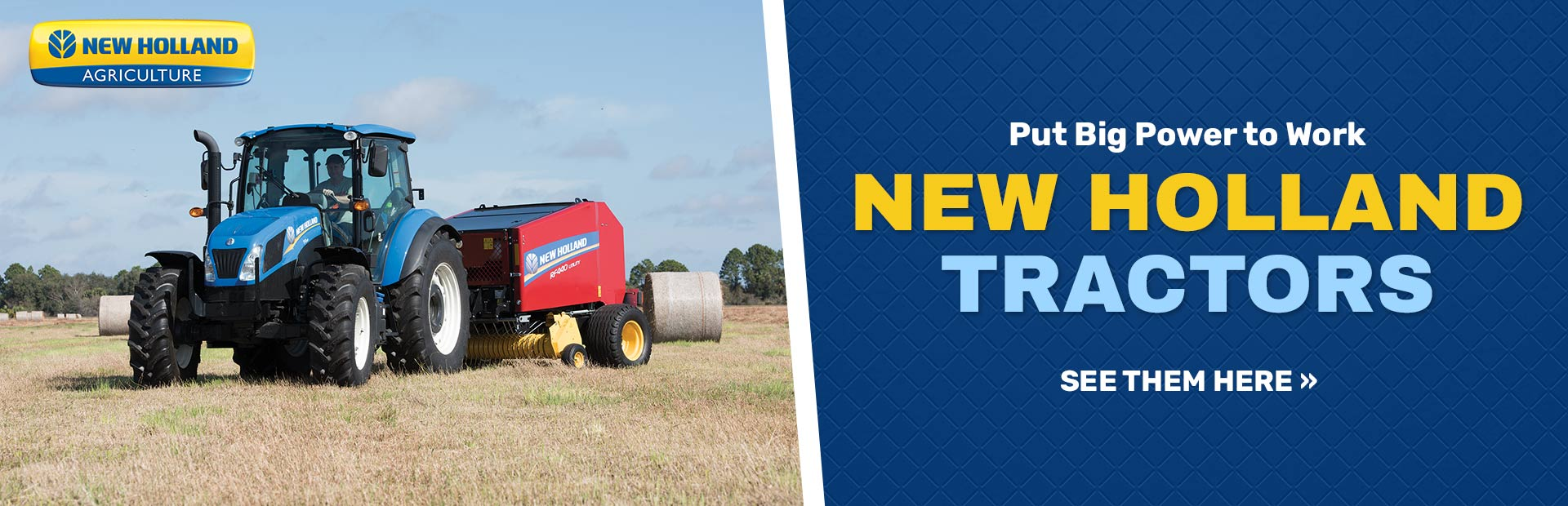 New Holland Tractors: Click here to view our models!