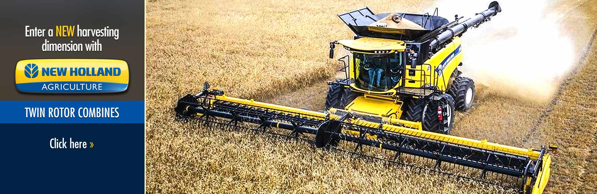 Enter a new harvesting dimension with New Holland twin rotor combines! Click here to view our select