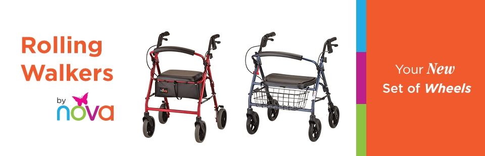 Rolling Walkers by Nova: Click here to shop online.