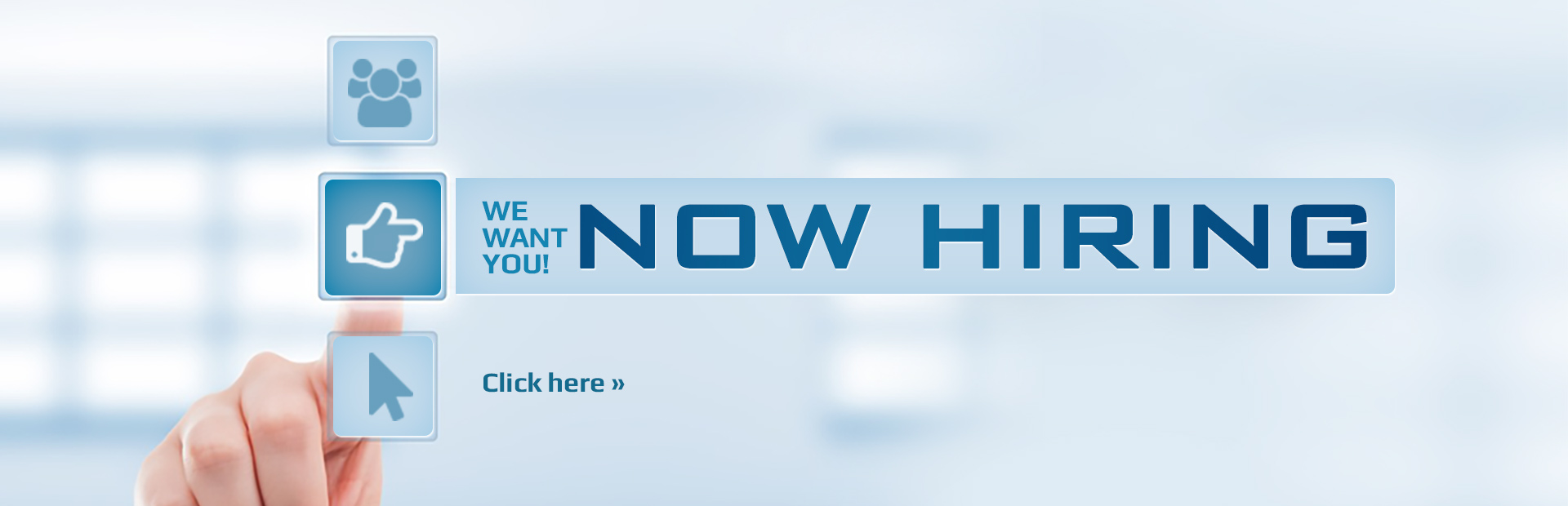 We are now hiring! Click here to contact us for details.