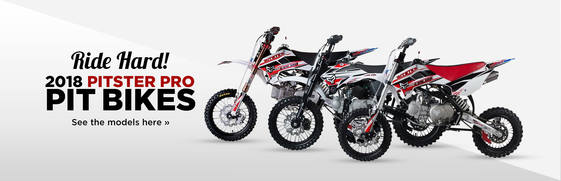 2018 Pitster Pro Pit Bikes: Click here to view the lineup.