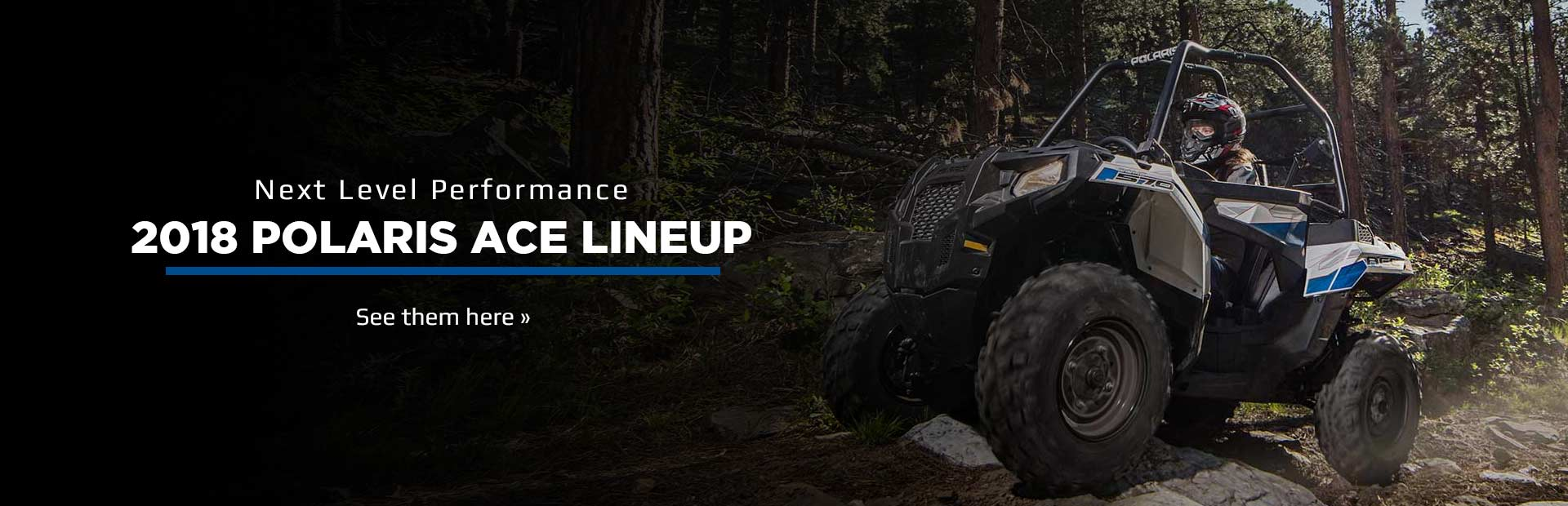 2018 Polaris ACE Lineup: Click here to view the models.