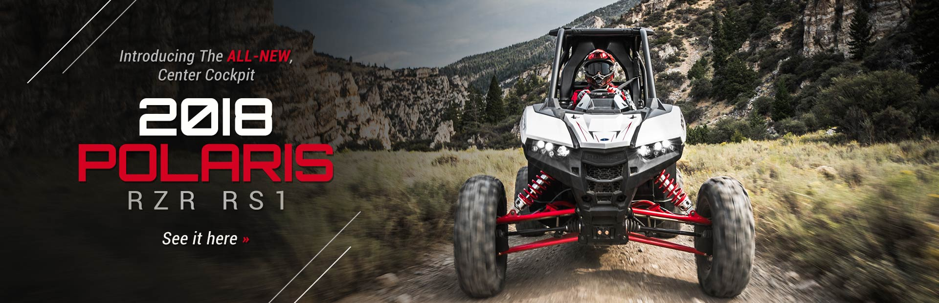 Introducing The All-New, Center Cockpit 2018 Polaris RZR RS1: Click here to view the model.