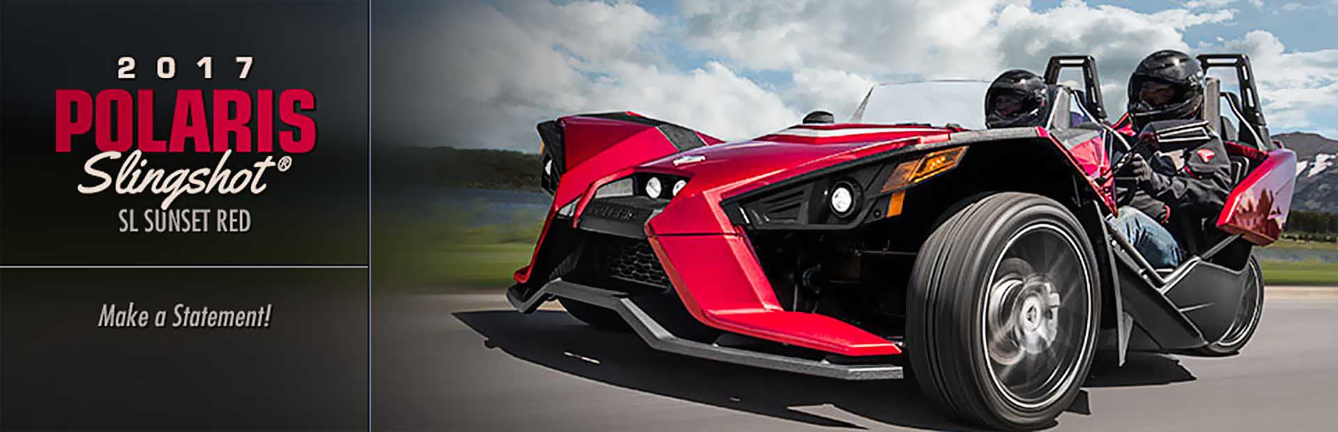 2017 Polaris Slingshot® SL Sunset Red: Click here to view the model.