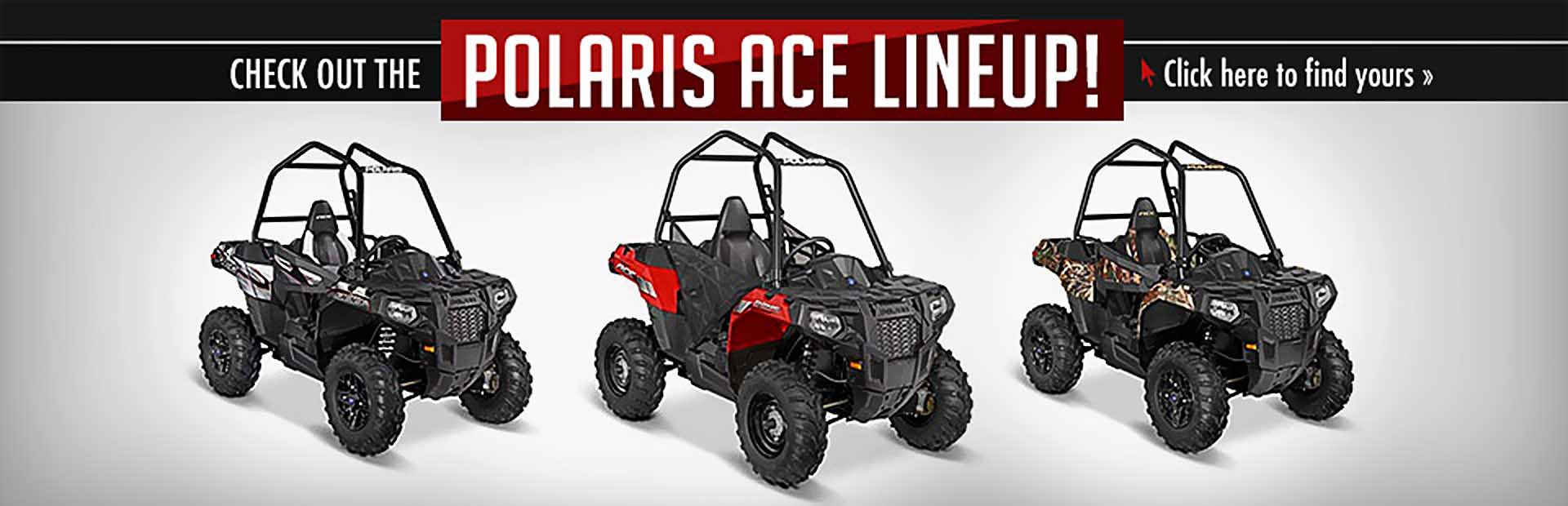 Click here to check out the Polaris ACE lineup!